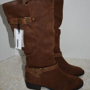 Tall Brown Boots 9.5 New Sonoma Vitalize